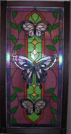 Stained Glass Butterfly Window