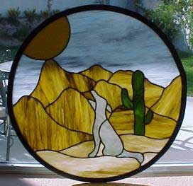 Stained Glass Cyote Window
