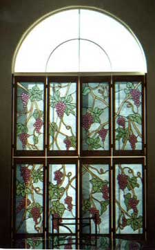 stained glass shutters