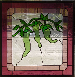 stained glass chili pepper window