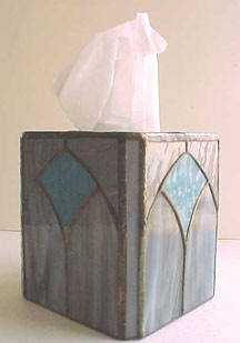 stained glass tissue box