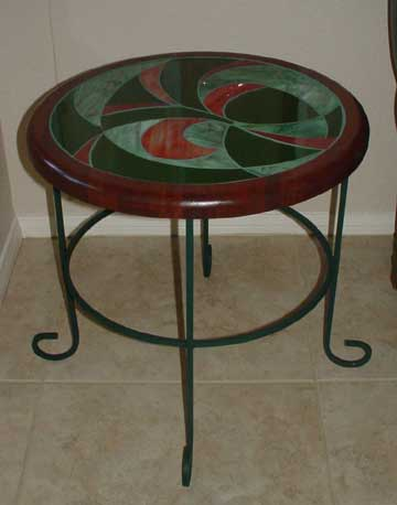 mosaic glass table