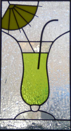 stained glass cocktail window