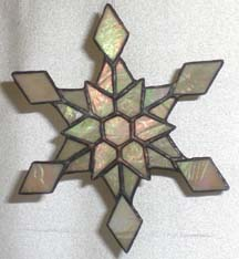 stained GLASS snow flake