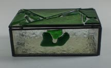 green stained glass box