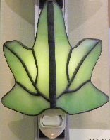 green leaf night light