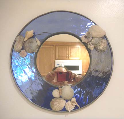 mirror with shells